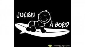Bébé surfeur à 1 an