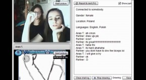 Chatroulette : Speed drawing