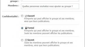 Créer un groupe sur Facebook