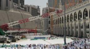 Chute d'une grue à la Mecque
