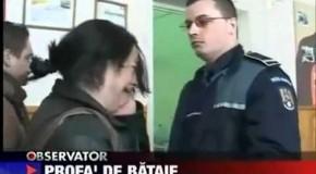 Policier roumain giflé