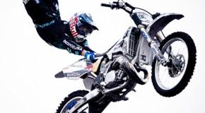 Robbie Maddison et Tom Pagès au salon de la moto de Pecquencourt