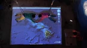 Saut en parachute avec Google Earth